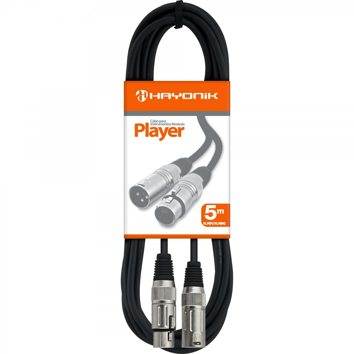 Imagem do produto Cabo para Microfone XLR(F) X XLR(M) 5m HAYONIK PLAYER