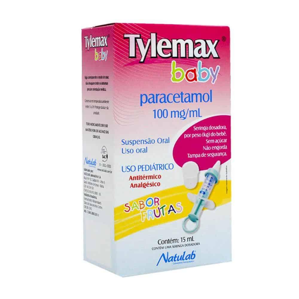 Foto 1 - Tylemax Baby (paracetamol) 100mg/ml Suspensão Oral Sabor Frutas C/15ml