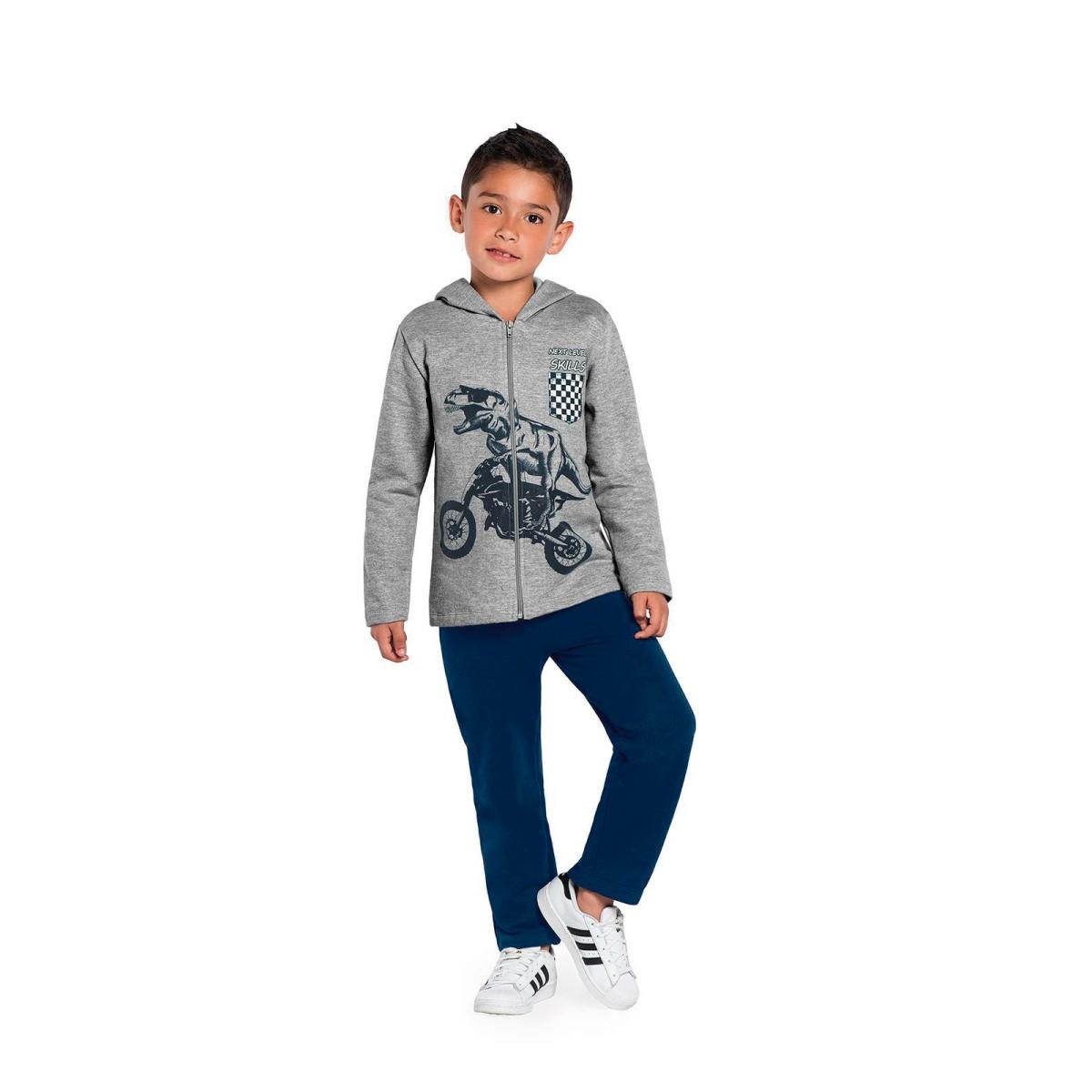 Imagem do produto Conjunto Infantil Dinossauro em Moto Rovitex Kids