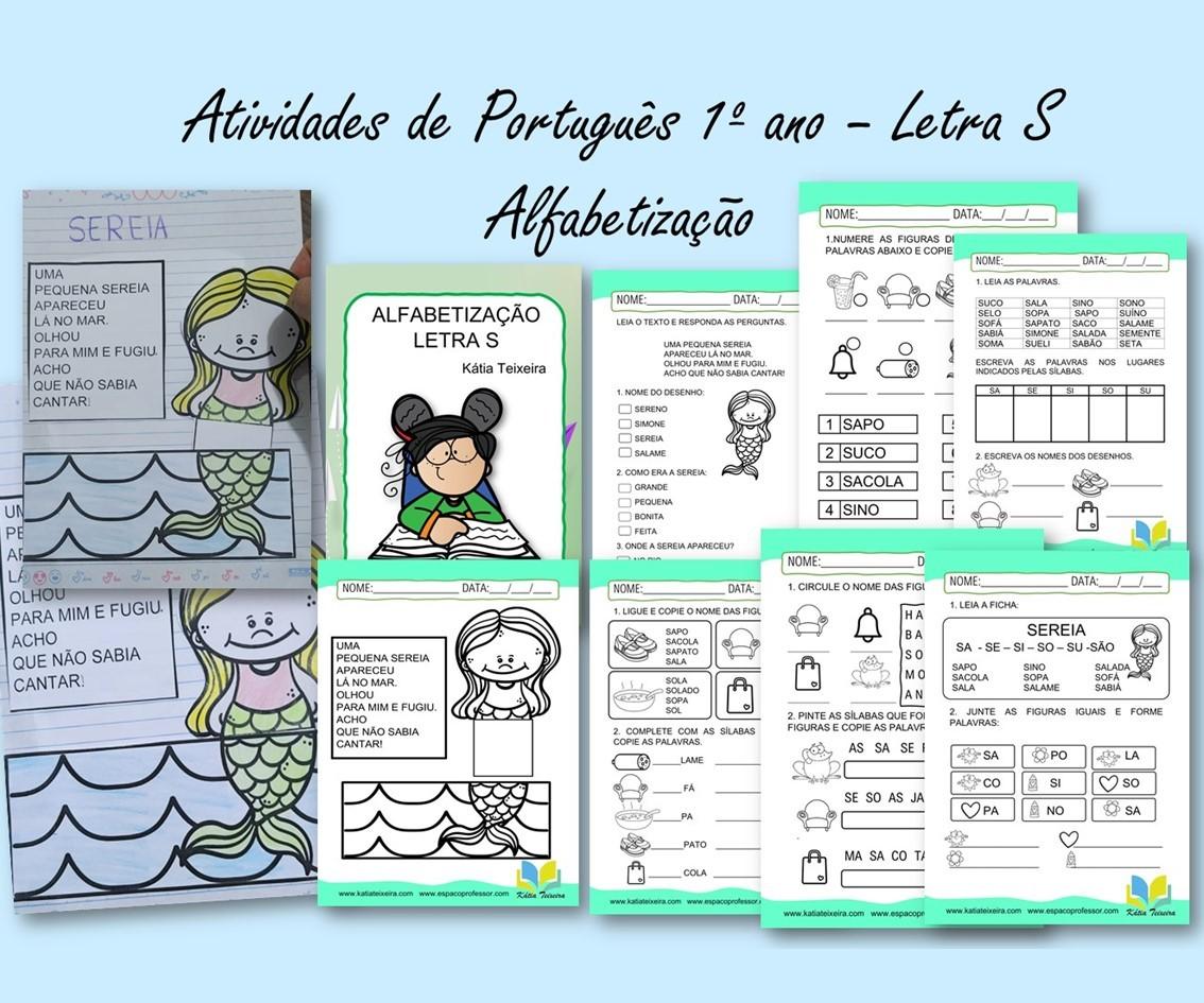 Imagem do produto Atividades de português 1º ano: alfabetização letra S com leitura interativa