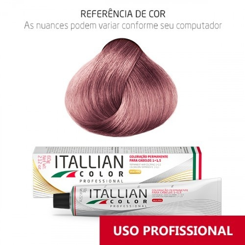 Imagem do produto Coloração Itallian Color Professional 60g Louro Rosado UC4 Plus