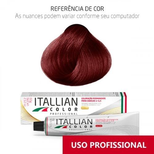 Imagem do produto Coloração Itallian Color Professional 60g Louro Vermelho Fogo 7.66