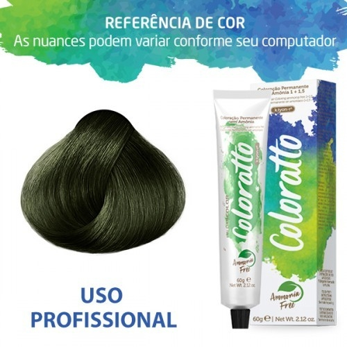Imagem do produto Coloração Sem Amônia Coloratto 60g Green 0.91
