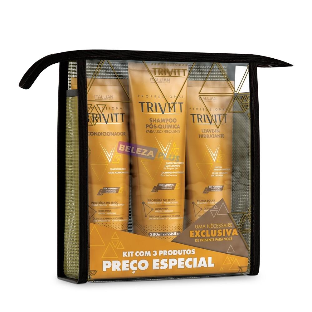 Imagem do produto Kit Home Care Trivitt com Leave-in Hidratante