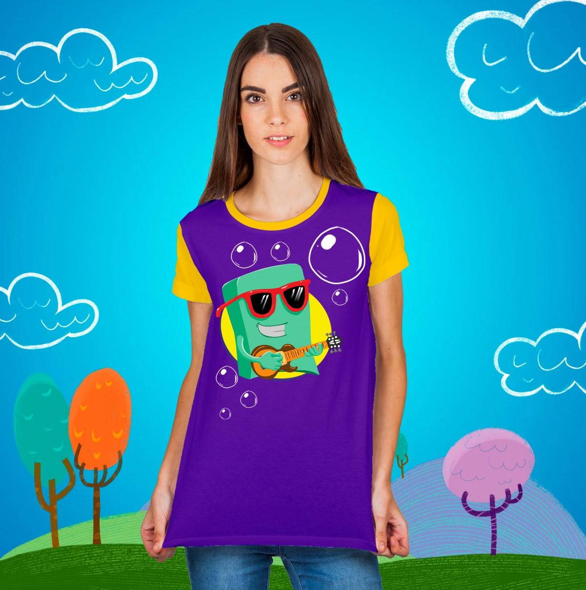 Foto 1 - Camisa Sabão Feminina 3 Palavrinhas