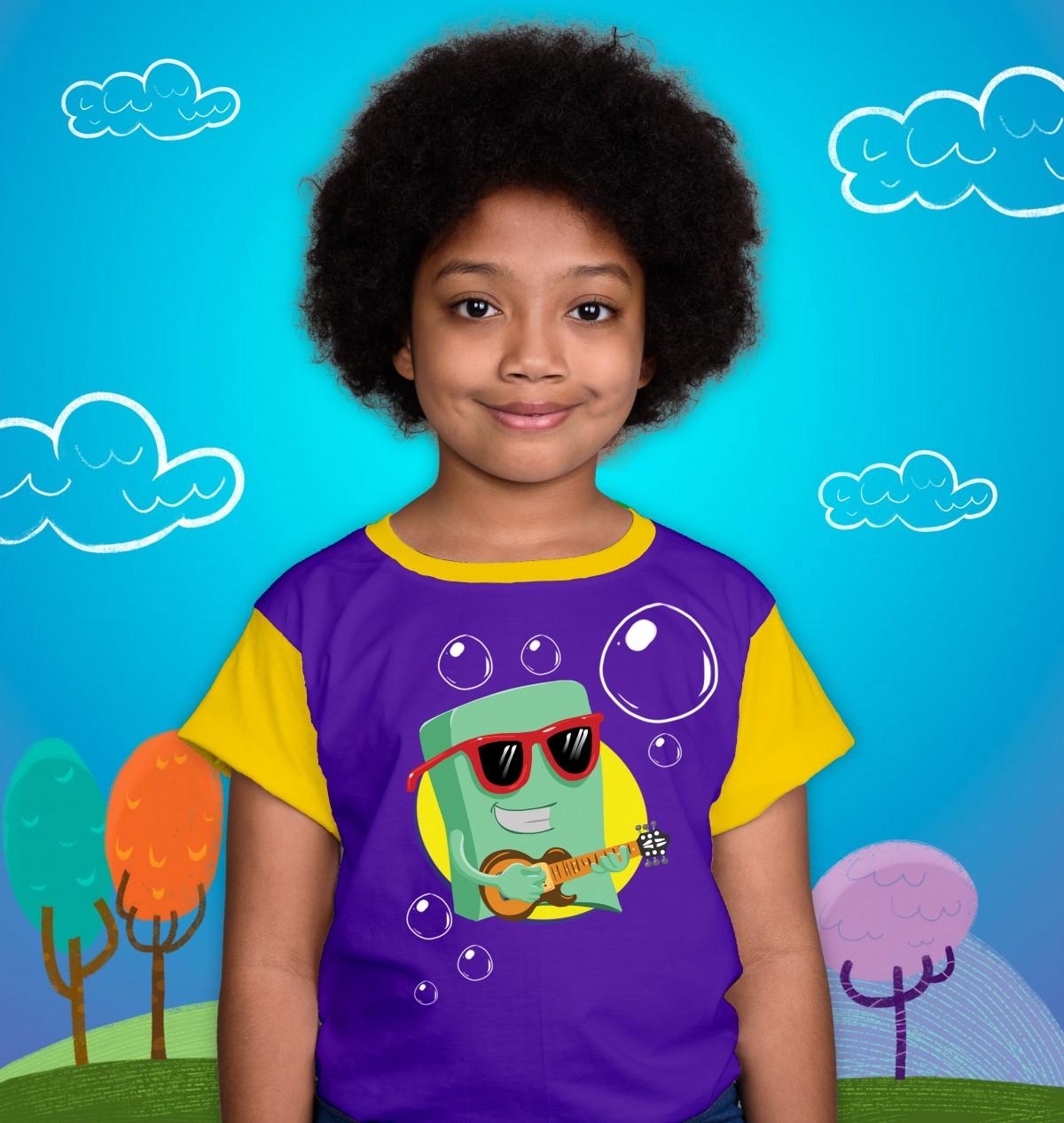 Foto2 - Camisa Sabão Infantil 3 Palavrinhas