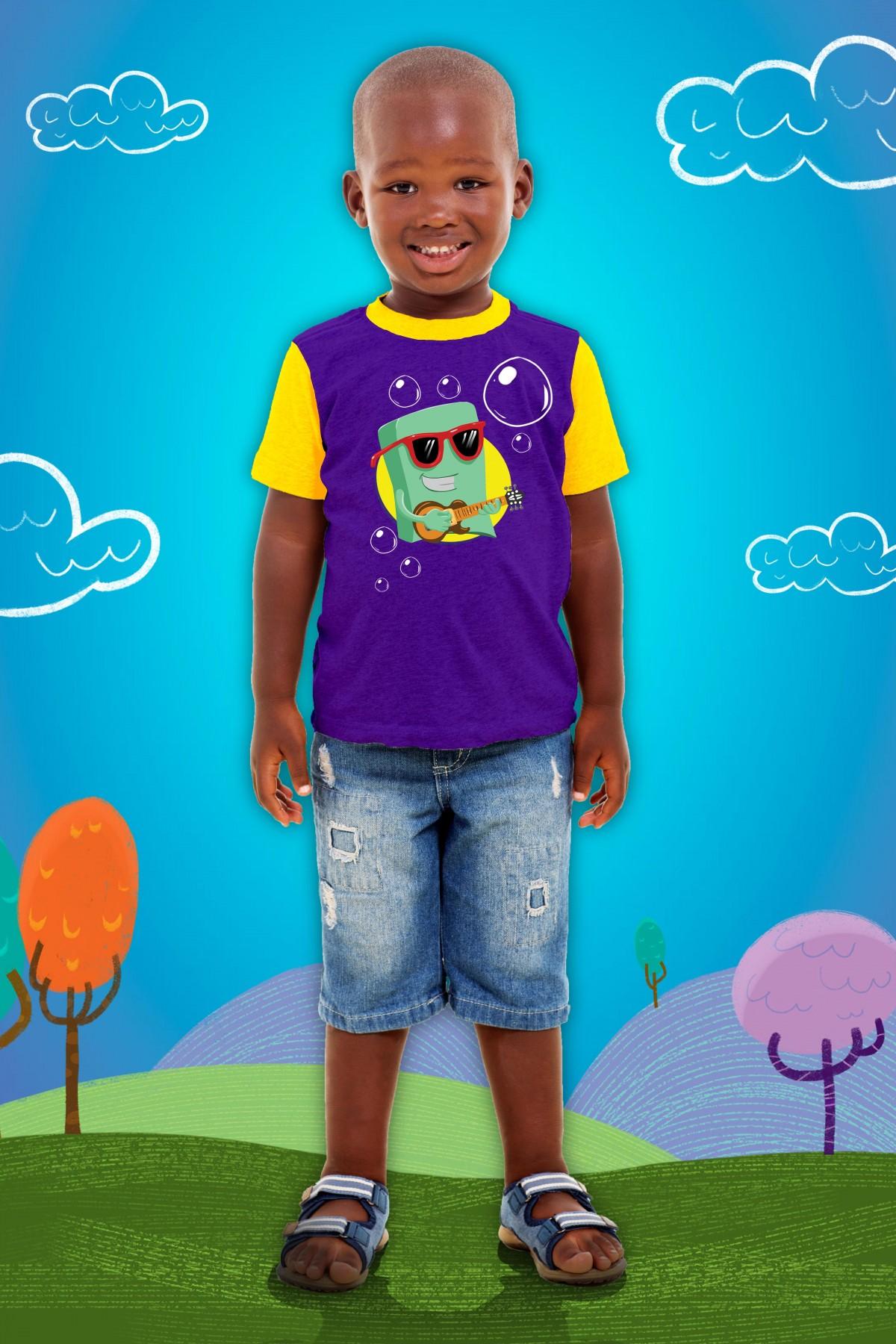 Foto3 - Camisa Sabão Infantil 3 Palavrinhas