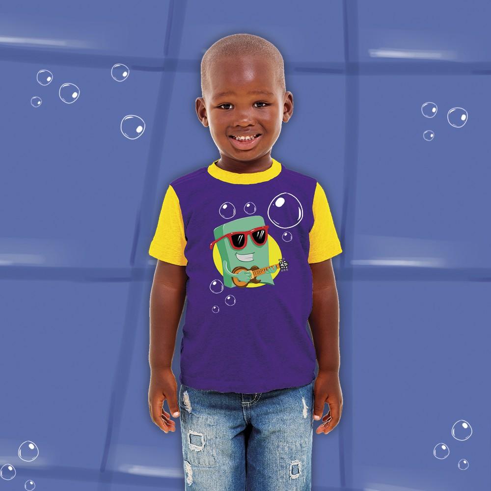 Foto 1 - Camisa Sabão Infantil 3 Palavrinhas
