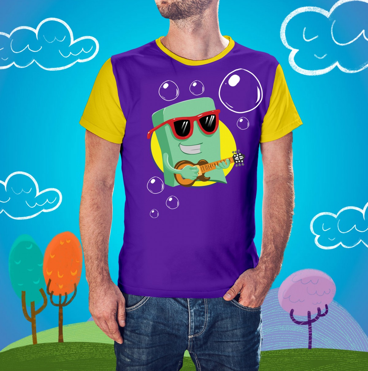 Foto 1 - Camisa Sabão Masculina 3 Palavrinhas - Adulto