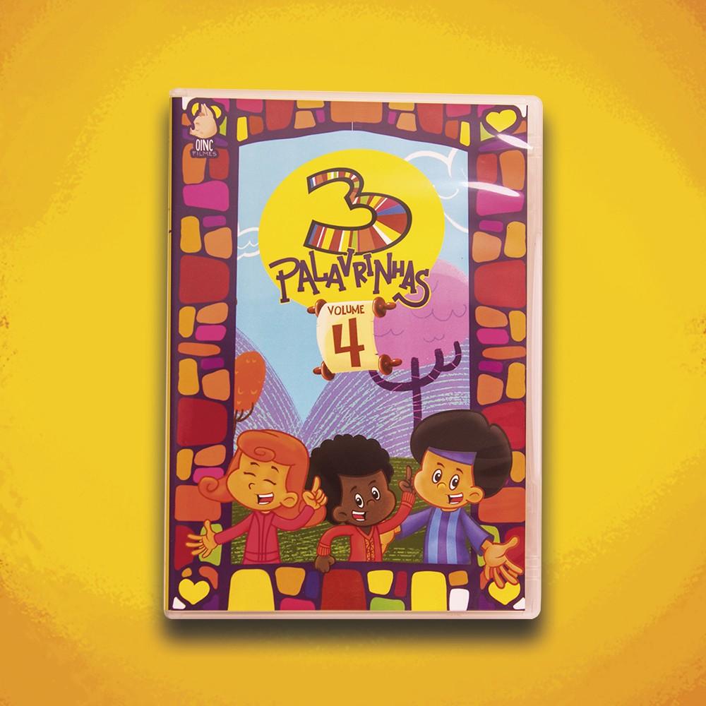 Foto5 - KIT de DVD's 3 Palavrinhas - Vol 1, 2, 3, 4 & 5