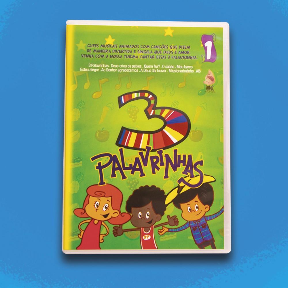 Foto2 - KIT de DVD's 3 Palavrinhas - Vol 1, 2, 3, 4 & 5