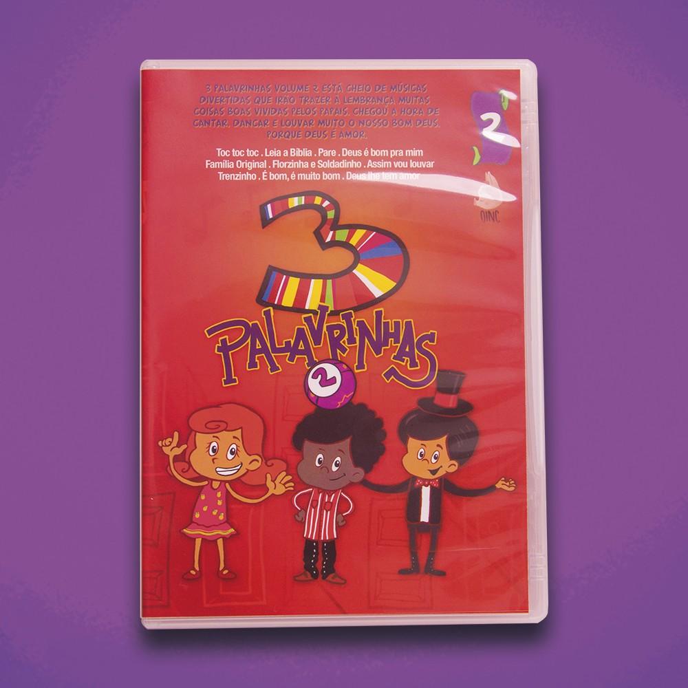 Foto3 - KIT de DVD's 3 Palavrinhas - Vol 1, 2, 3, 4 & 5