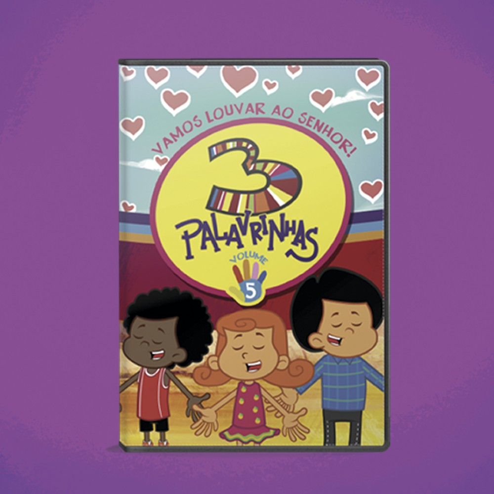 Foto6 - KIT de DVD's 3 Palavrinhas - Vol 1, 2, 3, 4 & 5
