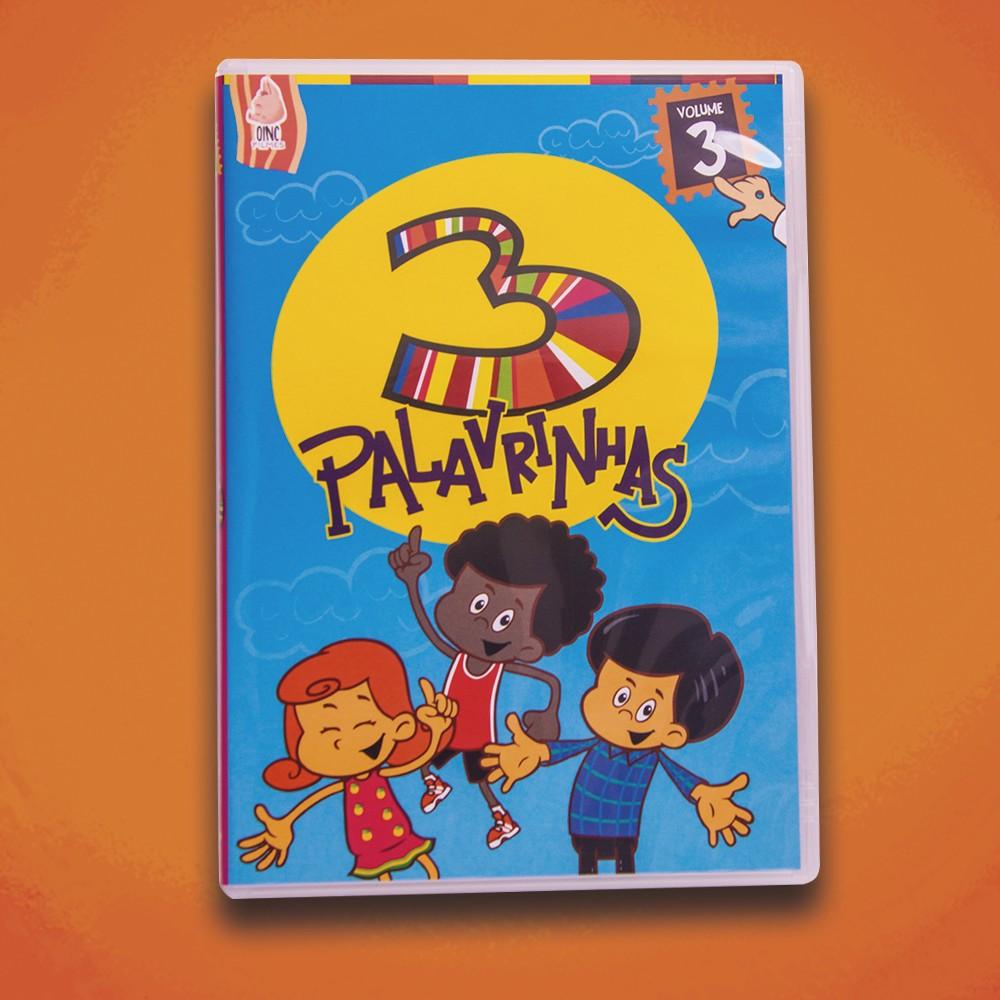Foto4 - KIT de DVD's 3 Palavrinhas - Vol 1, 2, 3, 4 & 5