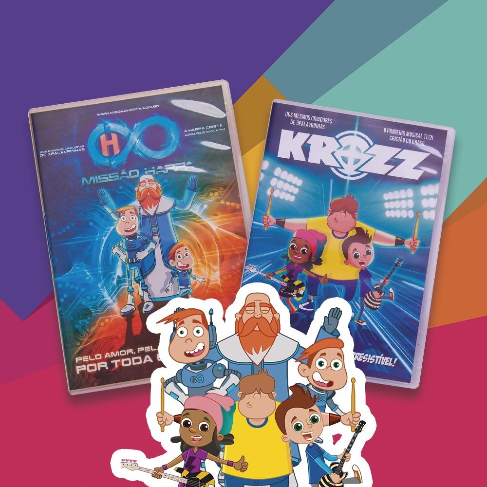 Foto 1 - KIT de DVD's - Krozz & Missão Harpa