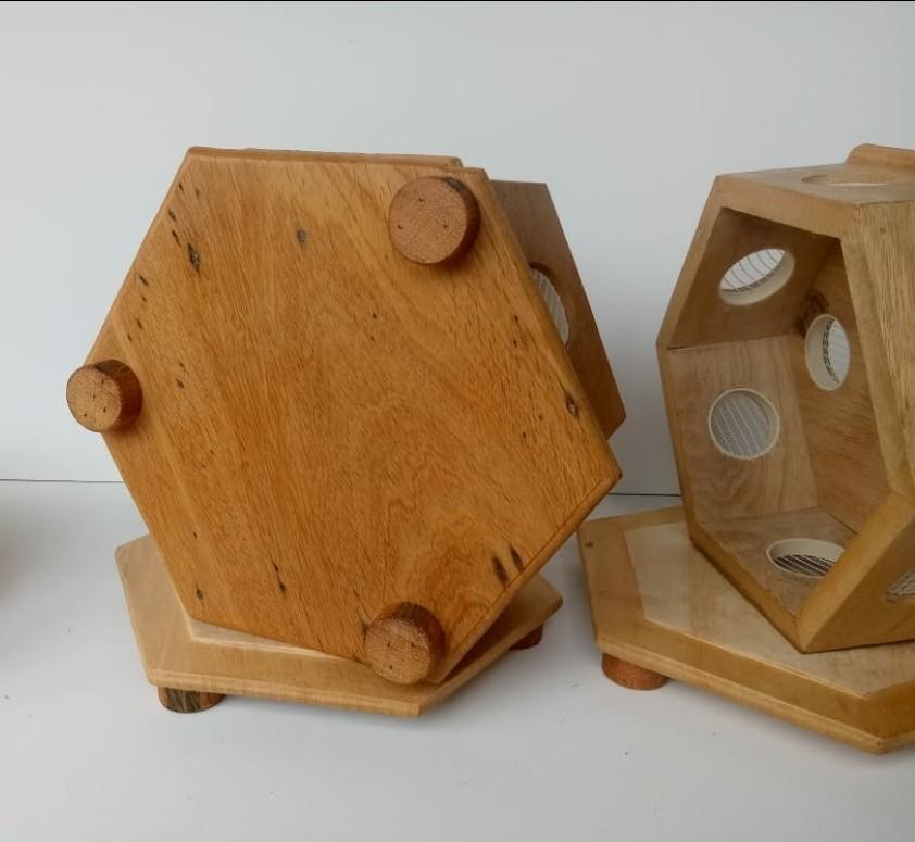 Foto2 - ** PROMOÇÃO DIA DOS PAIS **Queijeira / Maturador para Queijo Artesanal. Fabricada em Madeira Maciça Ecológica