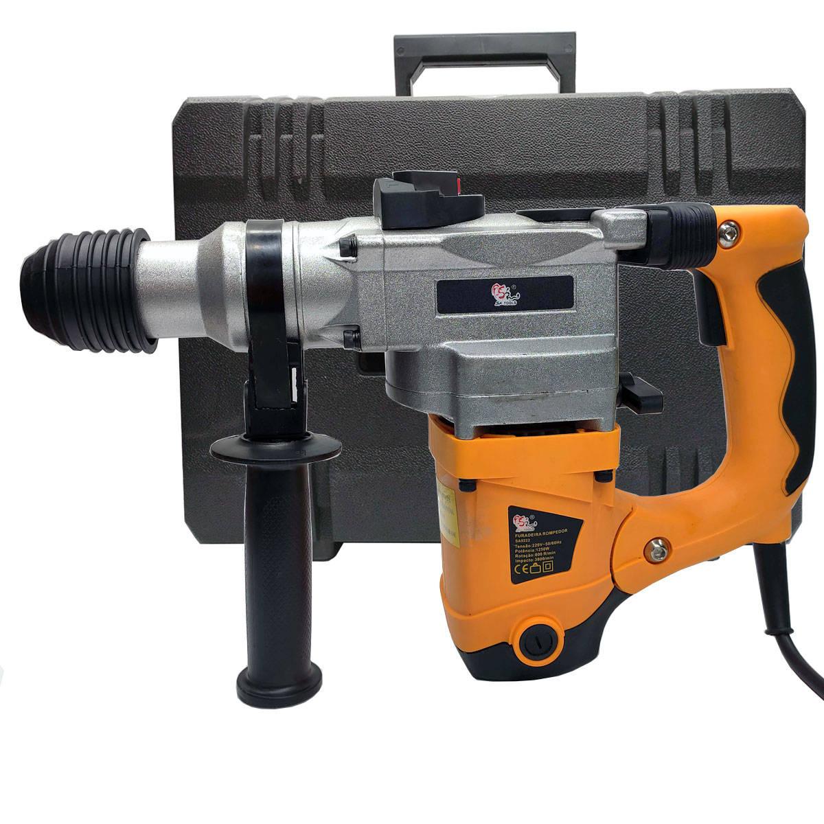 Imagem do produto Martelete Rompedor e Perfurador 6J 1.250W SA-9222 SA Tools