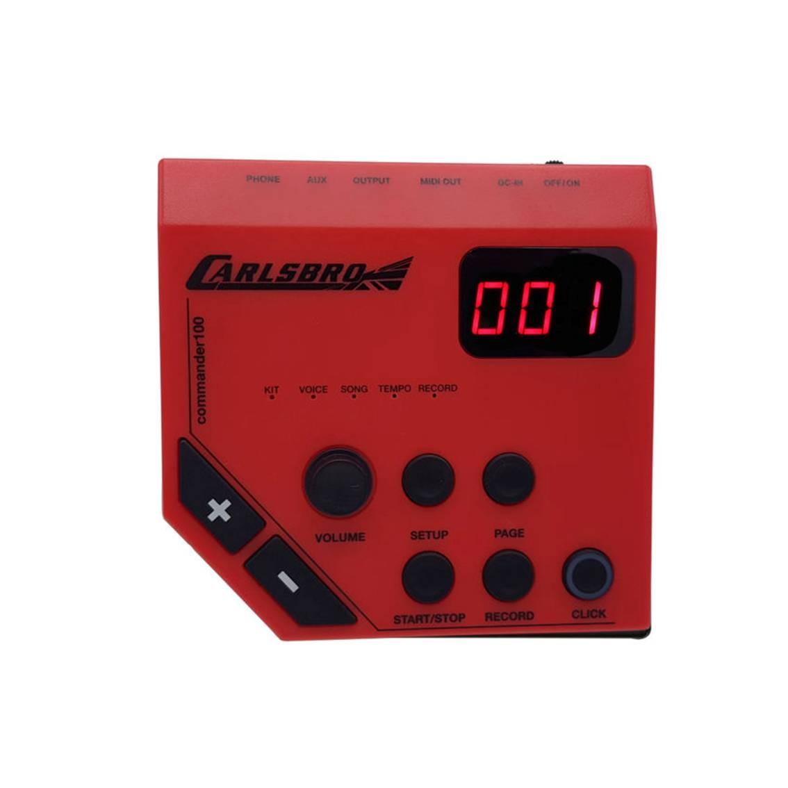 Foto2 - Kit Bateria Eletrônica Odery Carlsbro CSD100 + Fone + Banco e baquetas