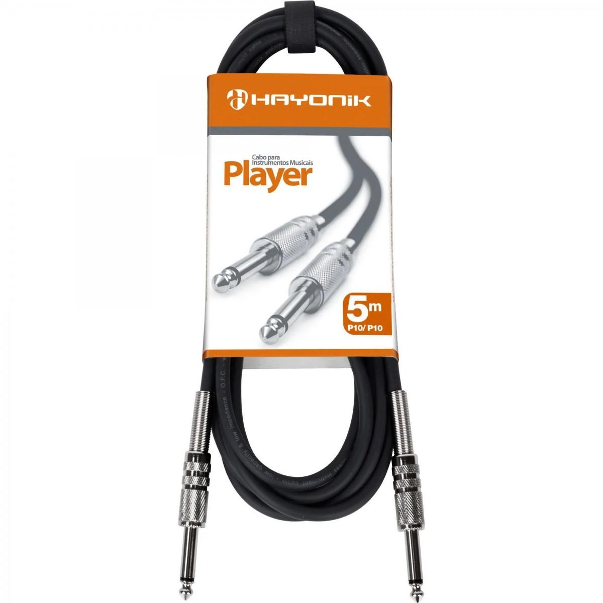 Imagem do produto Cabo para Instrumentos P10 x P10 5m HAYONIK PLAYER