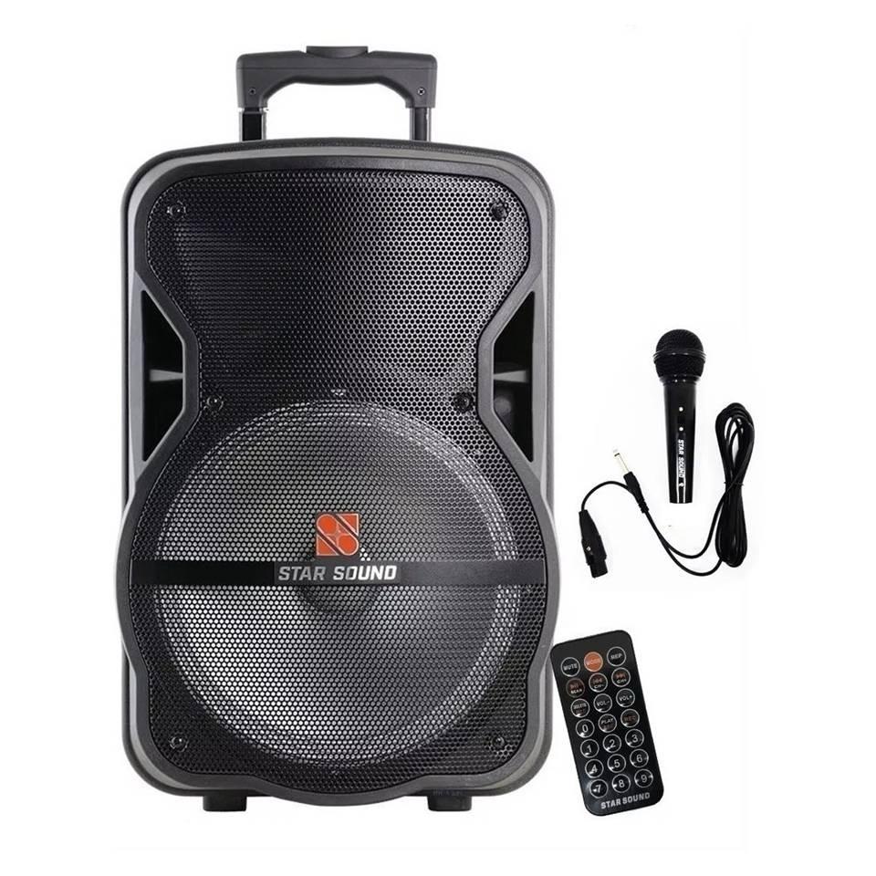 Imagem do produto Caixa Amplificada com Microfone e Bateria Star Sound SS120