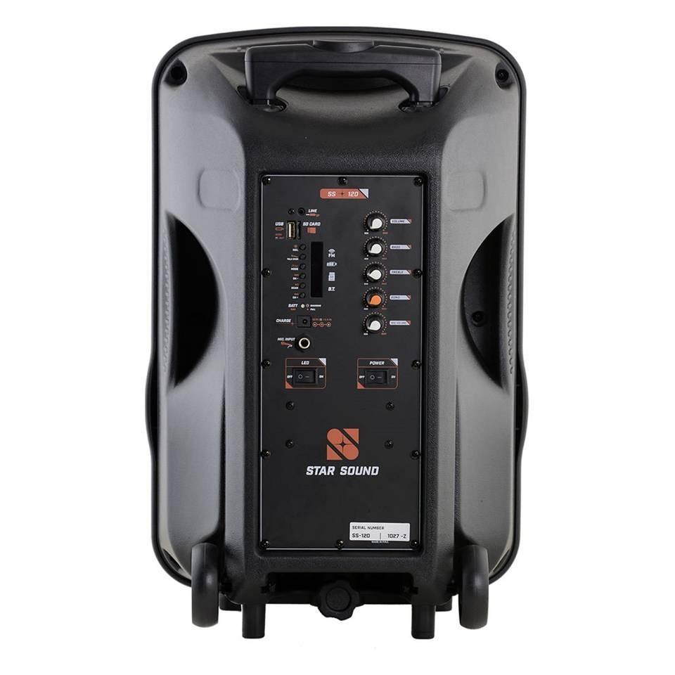 Foto2 - Caixa Amplificada com Microfone e Bateria Star Sound SS120