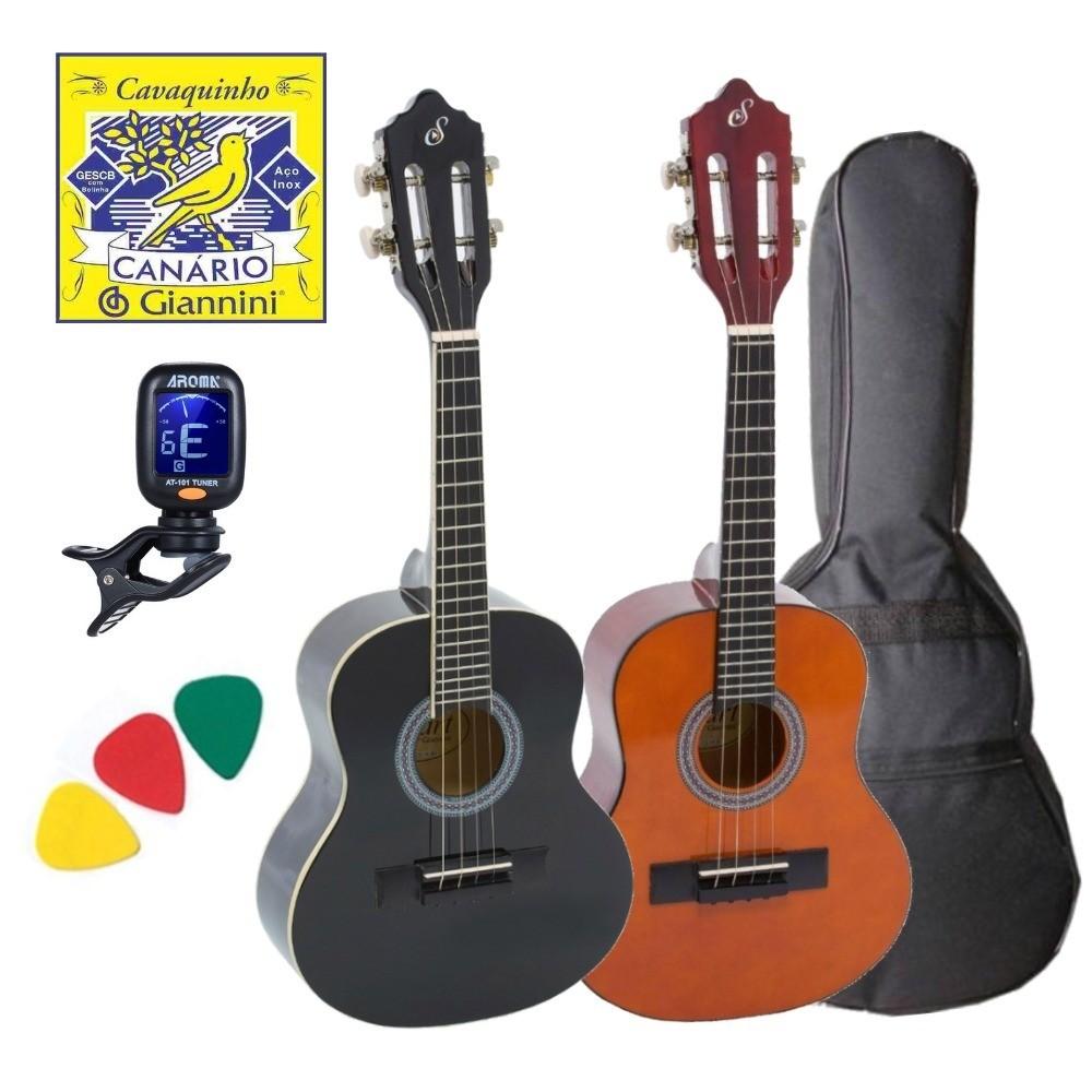 Imagem do produto Kit Cavaco Acústico Giannini Cs14 C/ Capa Palhetas Afinador