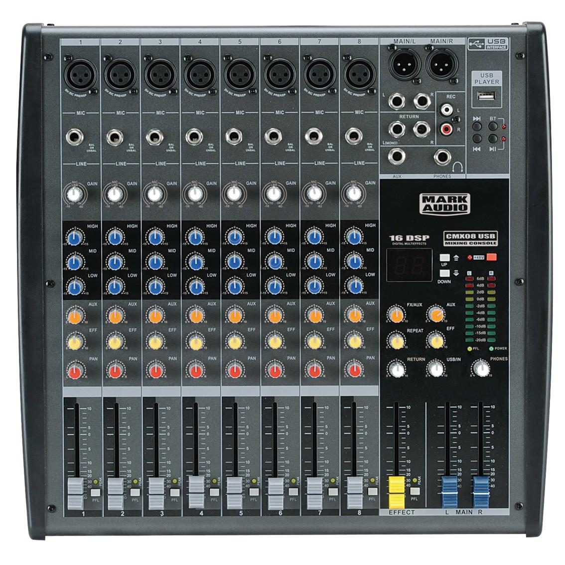 Imagem do produto Mesa de Som 8 Canais Mark Audio CMX08USB