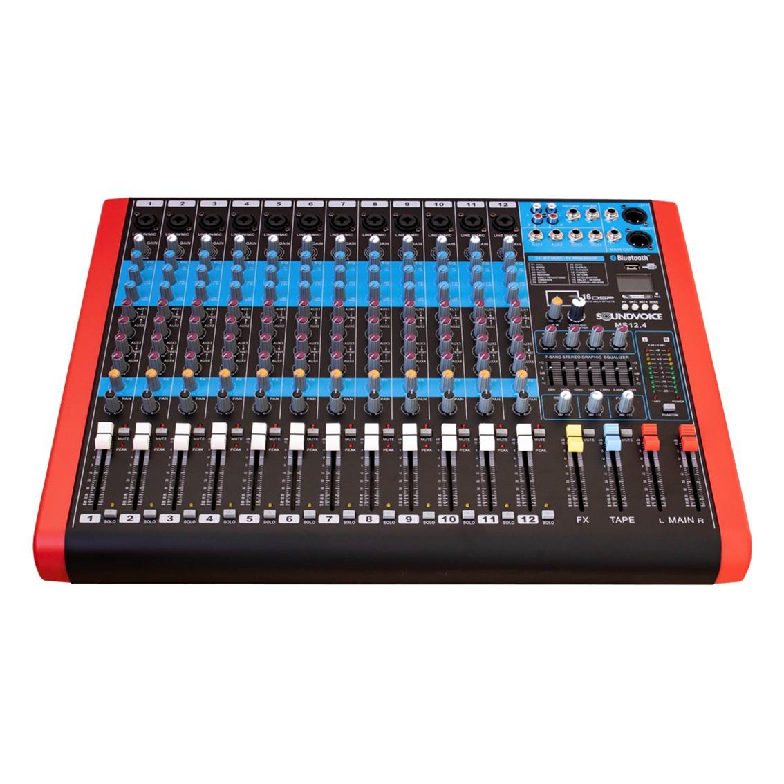 Imagem do produto Mesa de Som Soundvoice 12 Canais MS-12.4 EUX