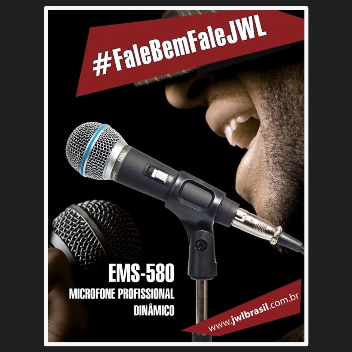 Foto2 - Microfone de Mão JWL EMS-580