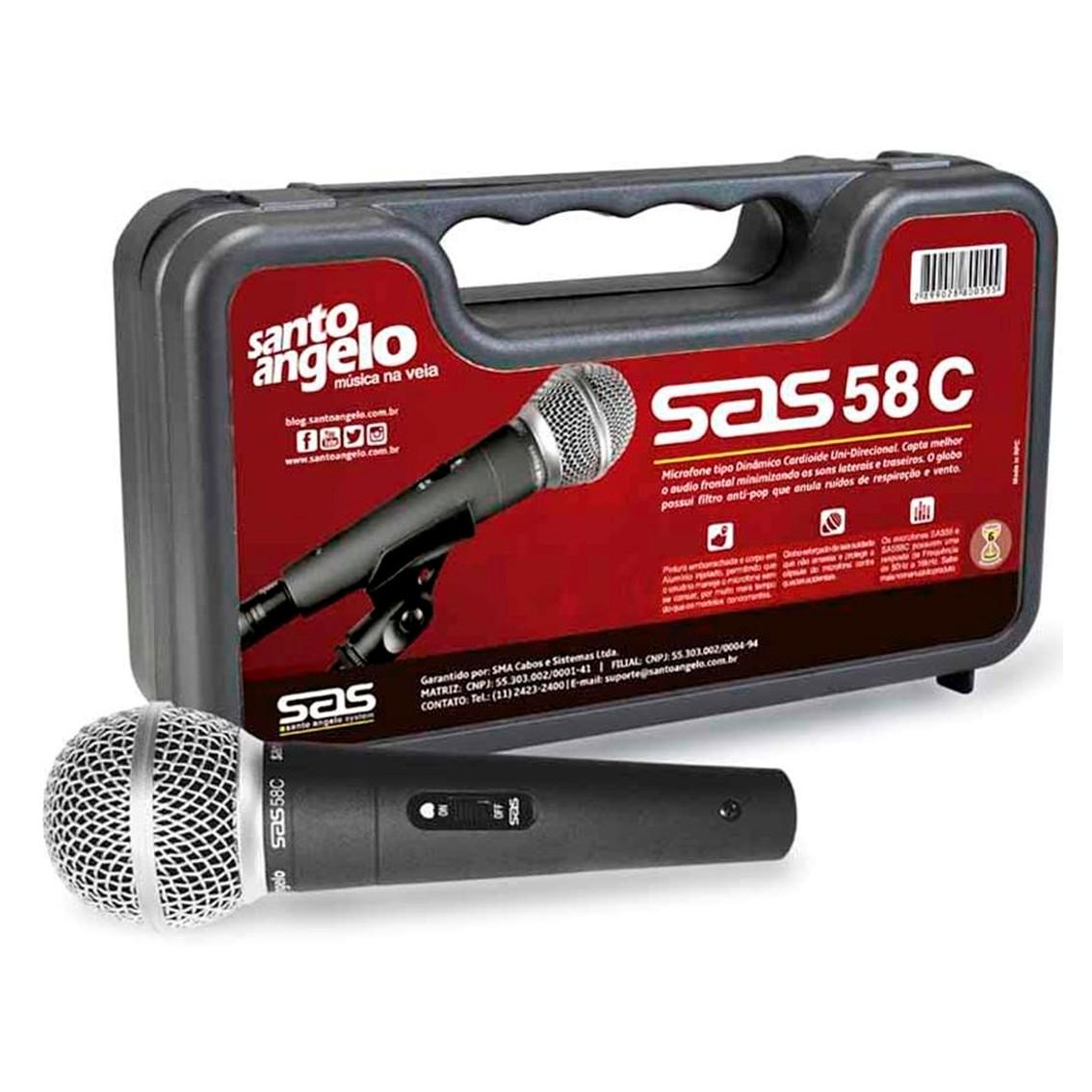 Imagem do produto Microfone de Mão Santo Ângelo SAS 58C