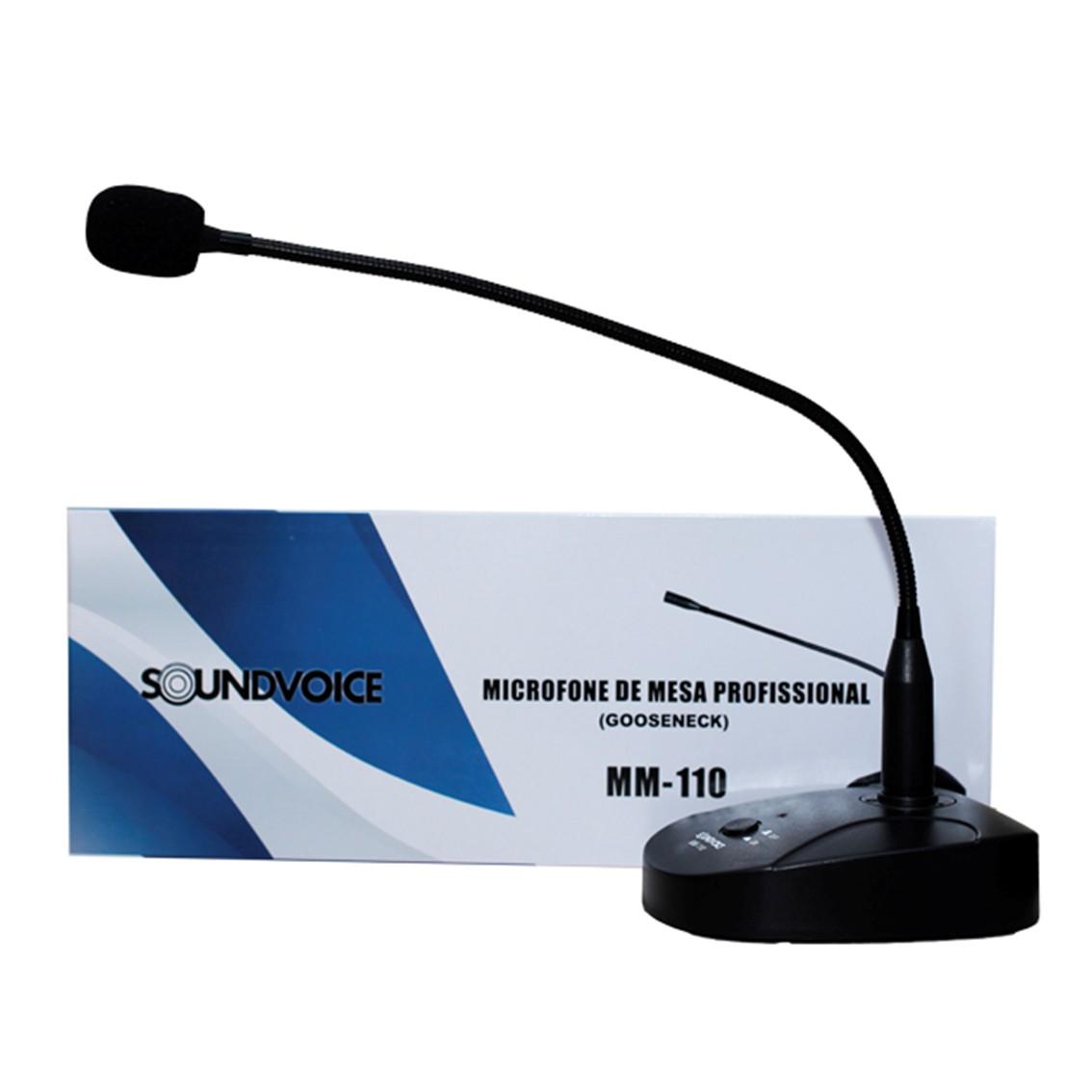 Imagem do produto Microfone de Mesa Soundvoice MM 110