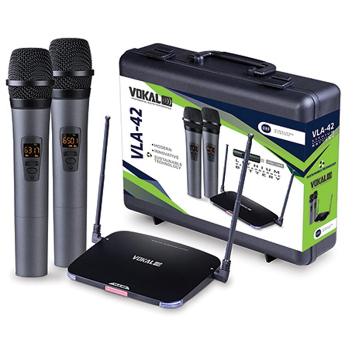 Imagem do produto Microfone sem Fio Vokal VLA-42 - Duplo