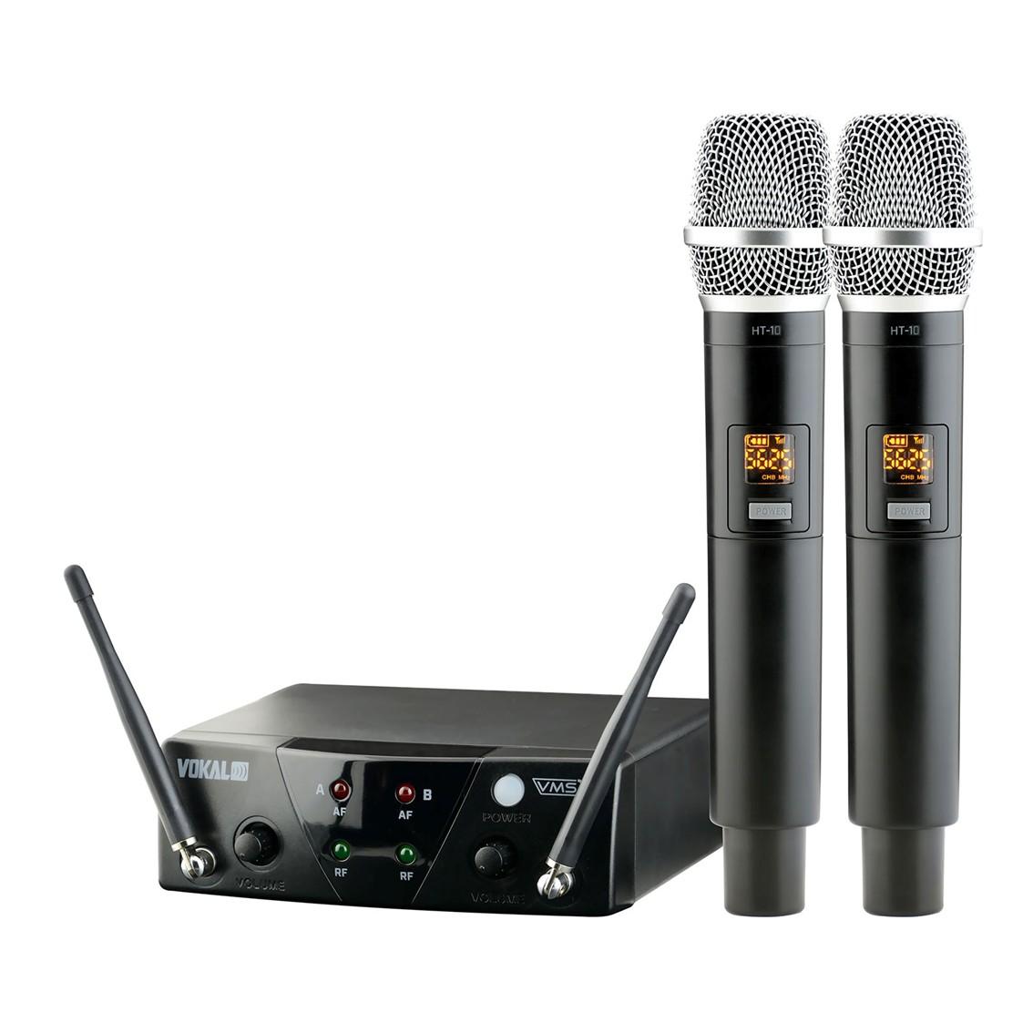 Imagem do produto Microfone sem Fio VokaL VMS12 - Duplo
