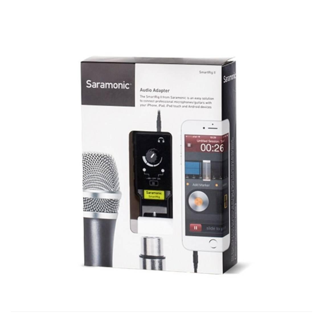 Foto4 - Mixer de Áudio para Smartfone Saramonic SmartRig II
