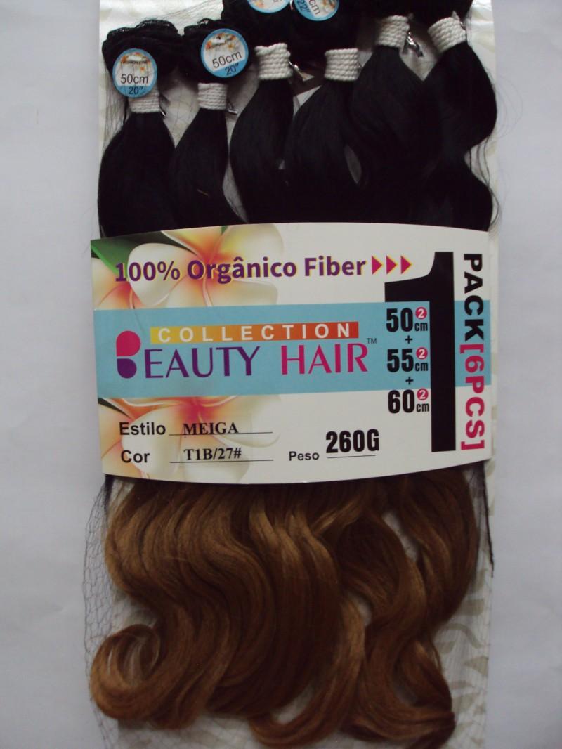 Foto2 - Cabelo Ondulado Fashion Line Orgânico Meiga 65cm