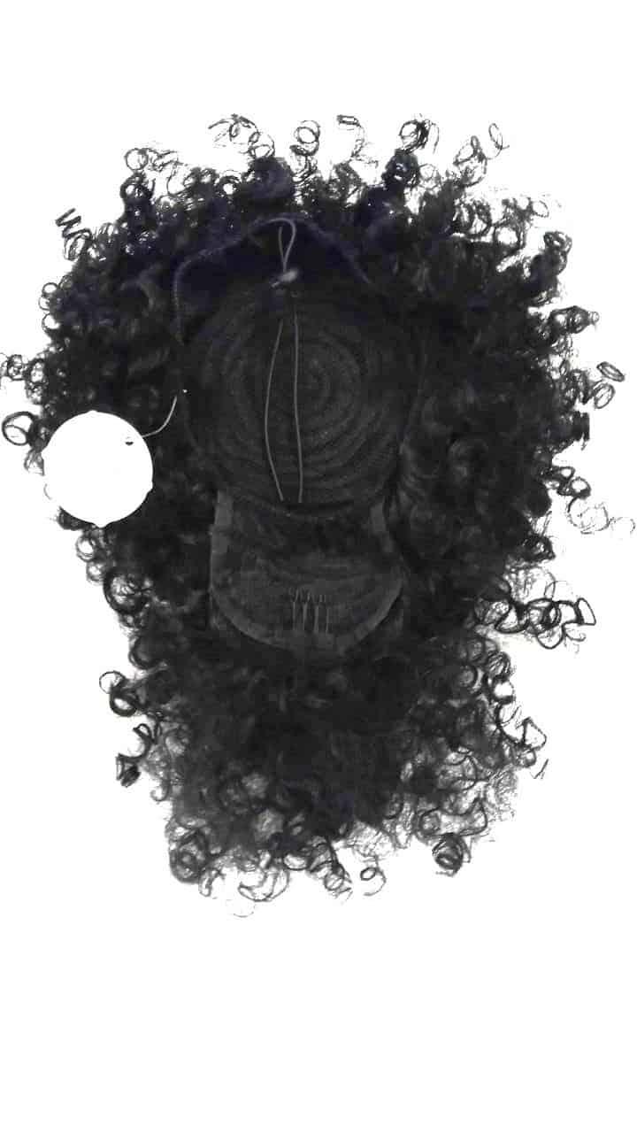 Foto 1 - Aplique Coque Alto Afro Puff Cacheado Com Franja (cherey)