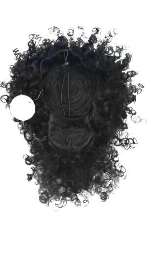 Foto1 - Aplique Coque Alto Afro Puff Cacheado Com Franja (cherey)