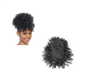 Foto2 - Aplique Coque Alto Afro Puff Cacheado Com Franja (cherey)