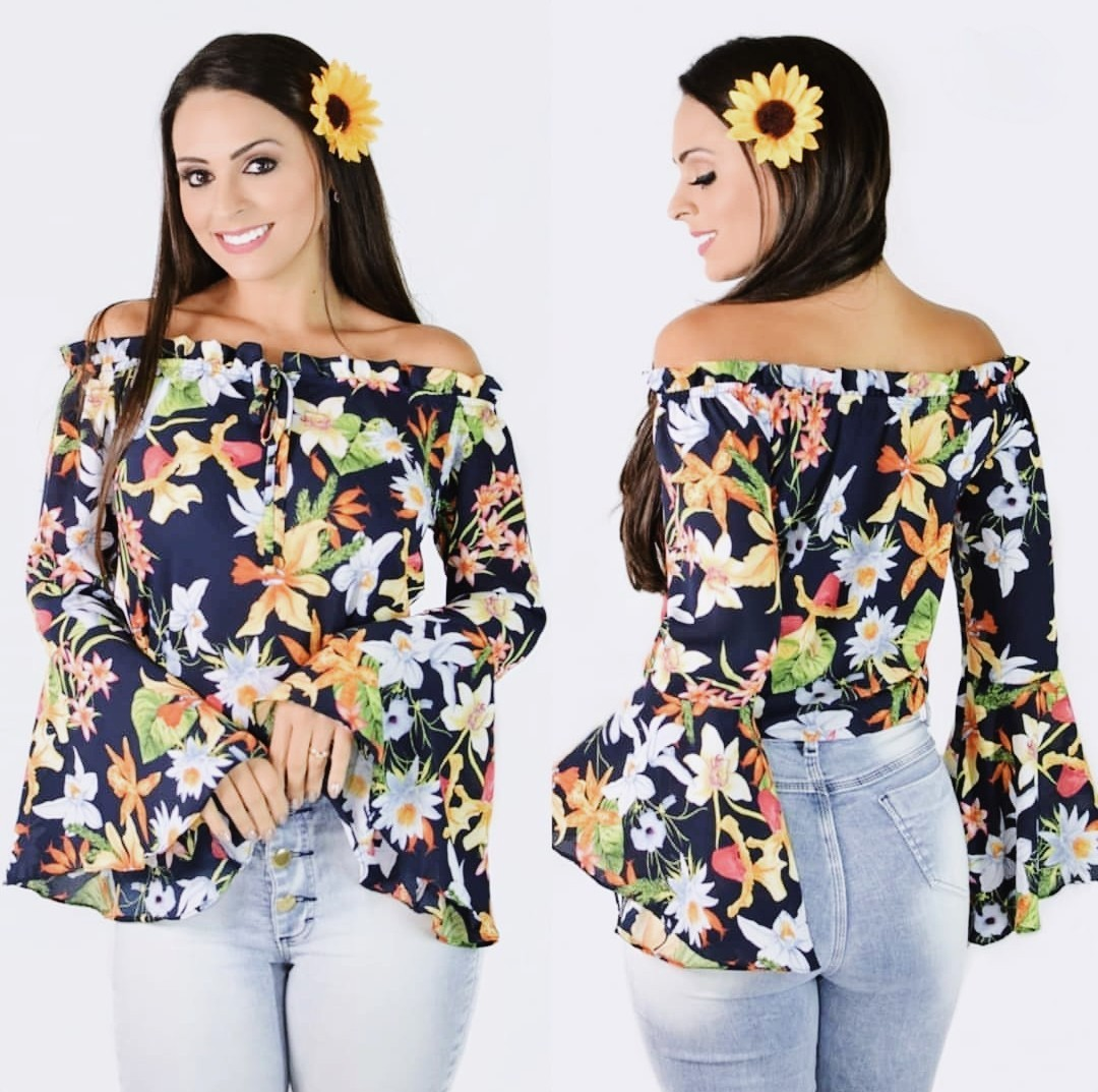 Foto 1 - Blusa Ciganinha Floral