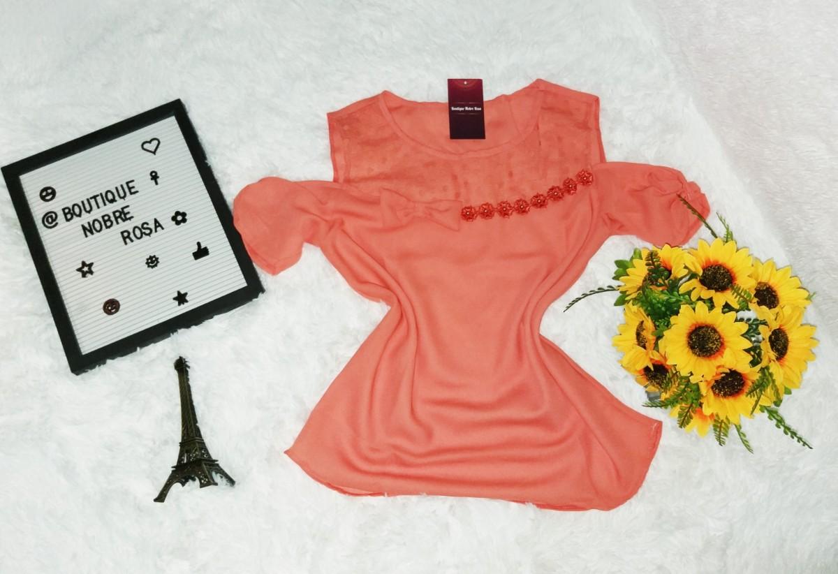 Foto 1 - Blusa Manguinha com renda variadas