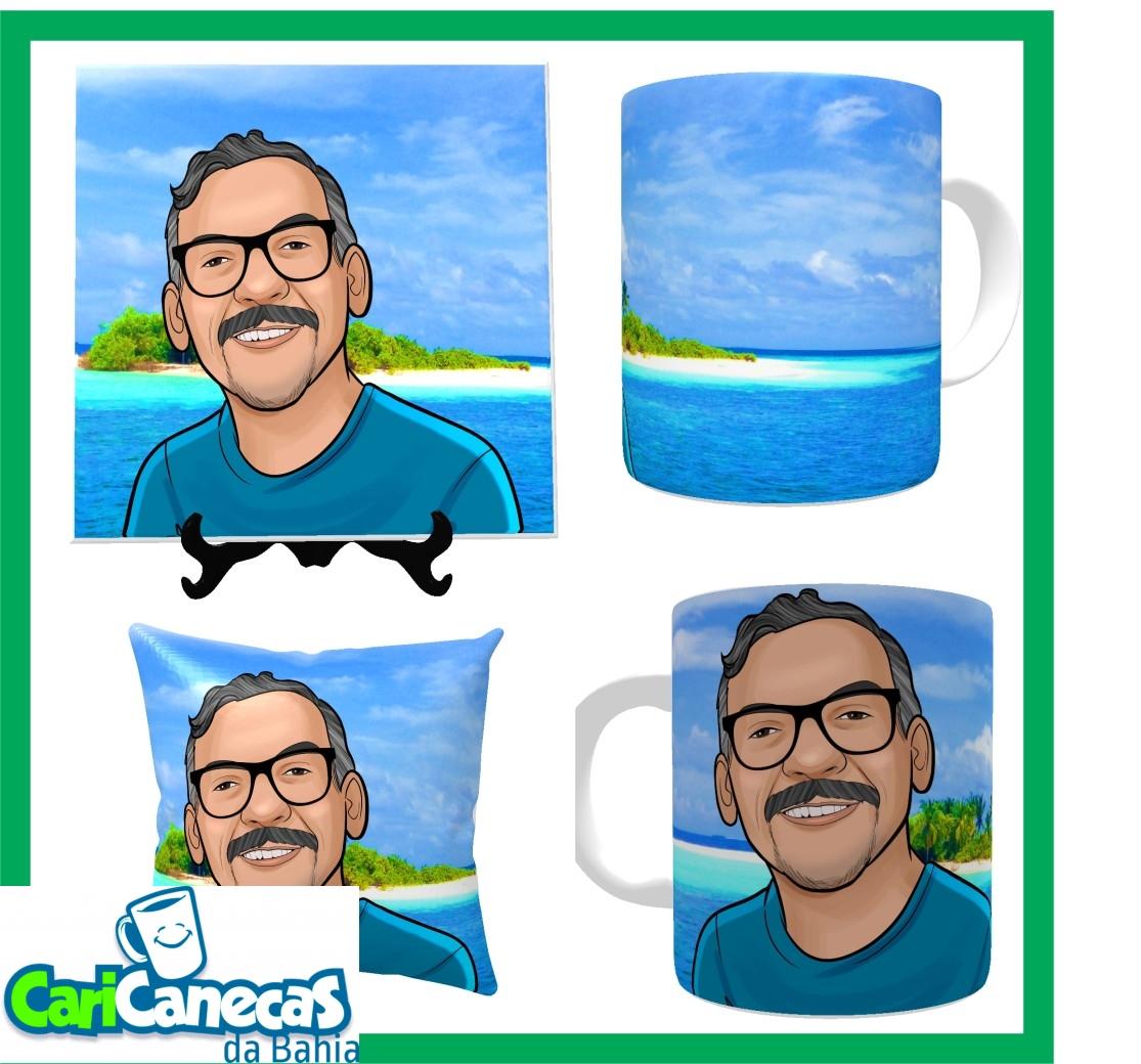 Foto 1 - 01 Almofada + 01 Azulejo + 01 Caneca de Café