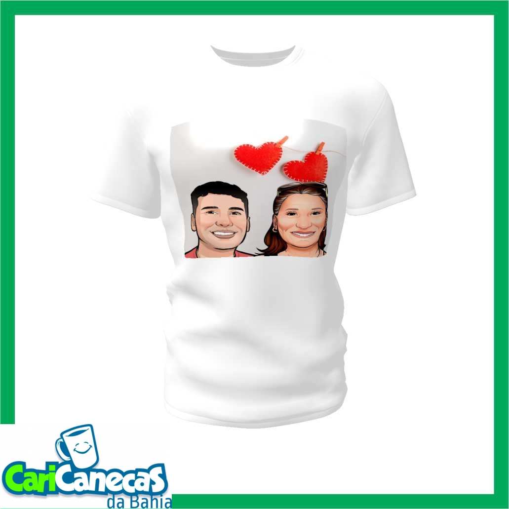 Foto2 - 02 Camisetas Casal + Caricatura do Casal
