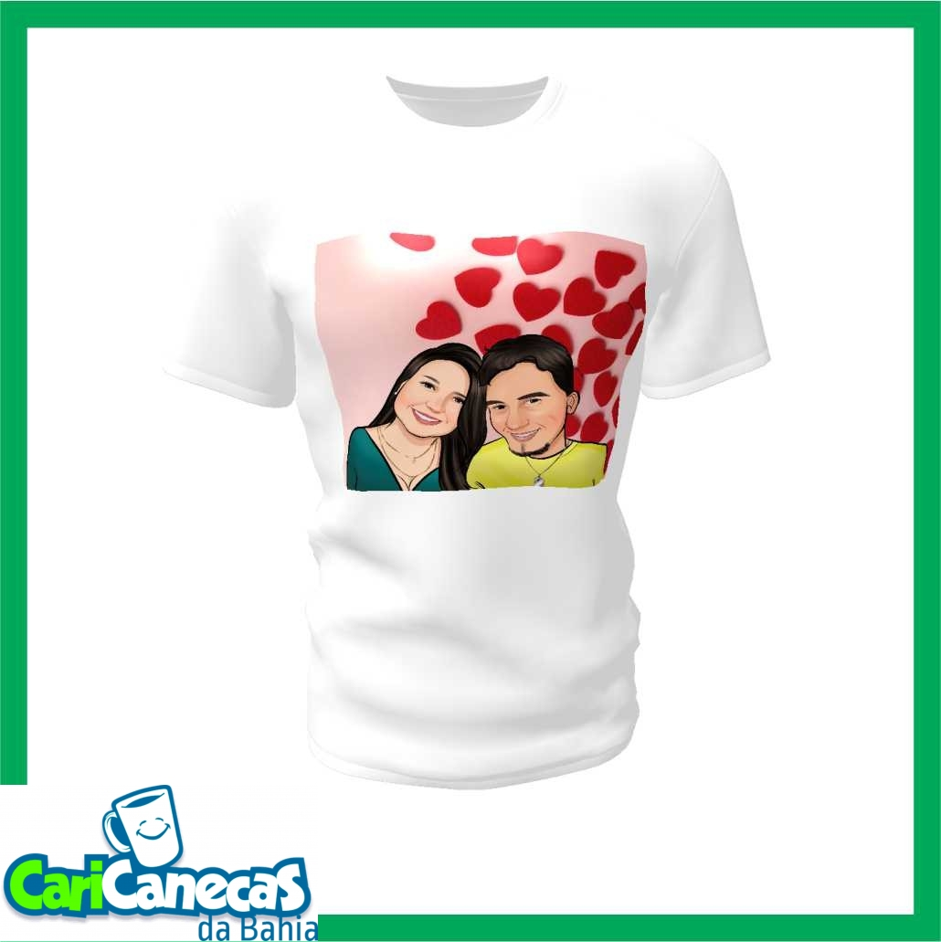 Foto4 - 02 Camisetas Casal + Caricatura do Casal