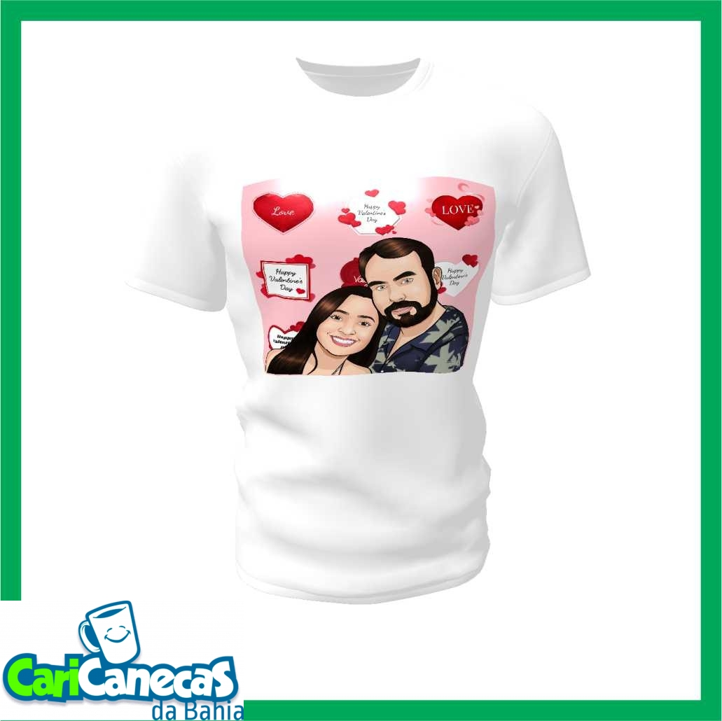 Foto5 - 02 Camisetas Casal + Caricatura do Casal
