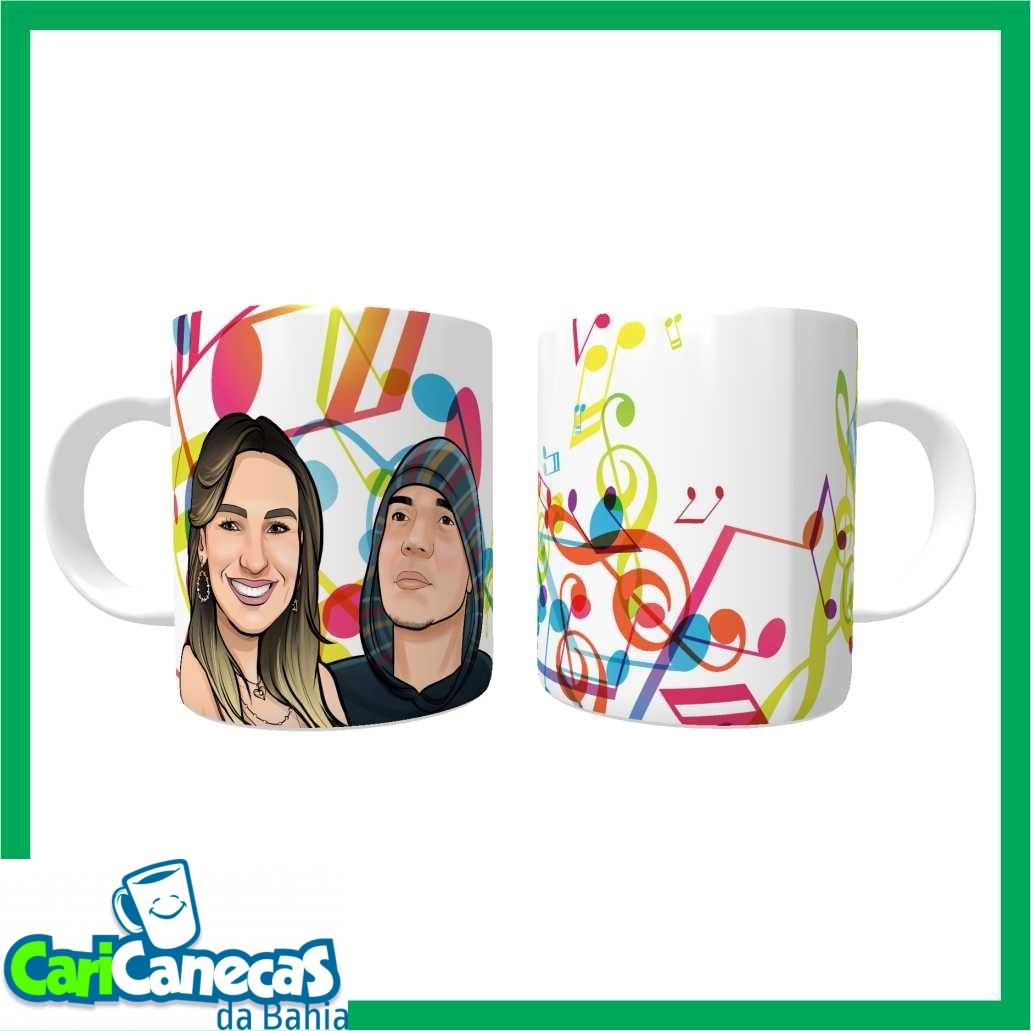 Foto 1 - 02 Canecas de Café Casal + 02 Caricaturas