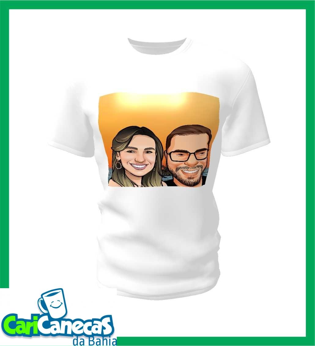 Foto 1 - 02 Camisetas Casal + Caricatura do Casal