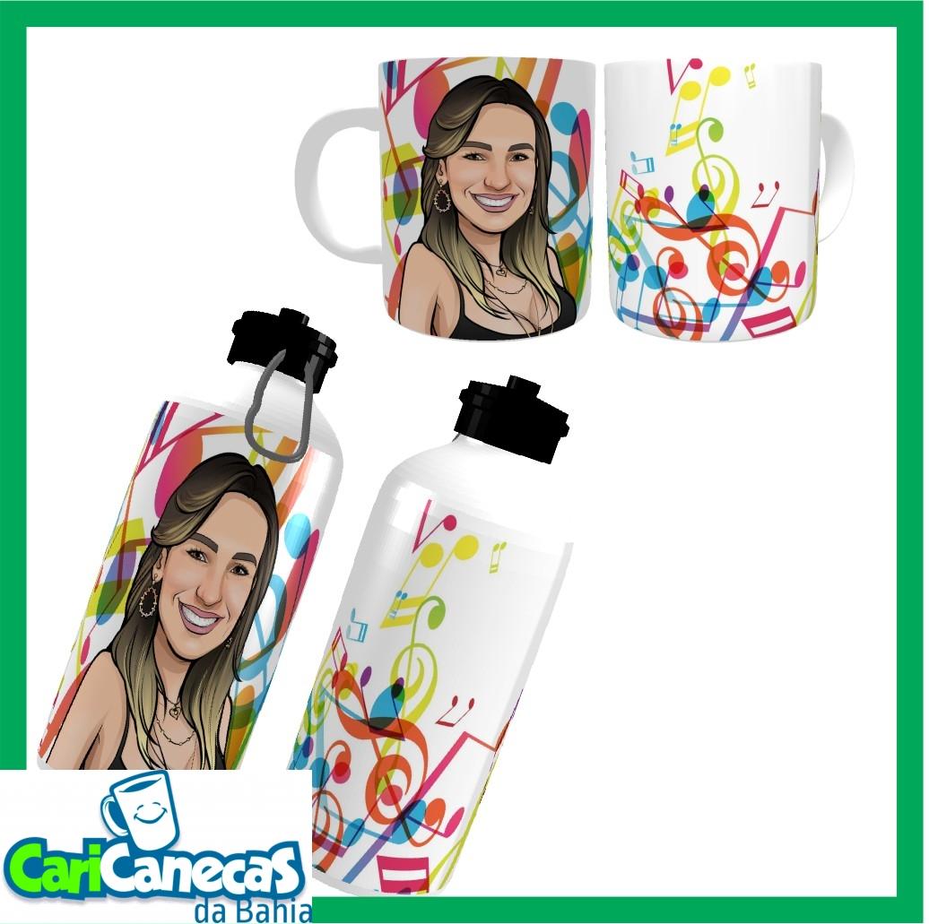 Foto 1 - 01 Squeeze + 01 Caneca + 01 Caricatura Individual
