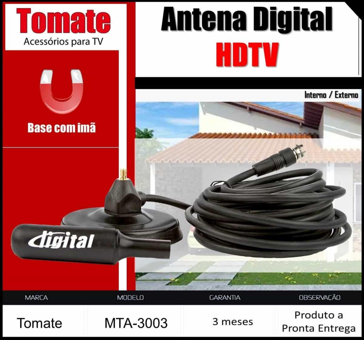 Foto2 - Antena Interna Digital (MTA-3003) HDTV Tomate