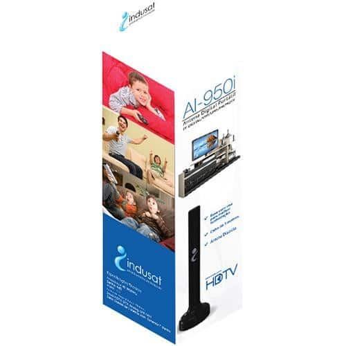 Foto2 - Antena Tv Digital HDTV Portatil AI-9501 Indusat