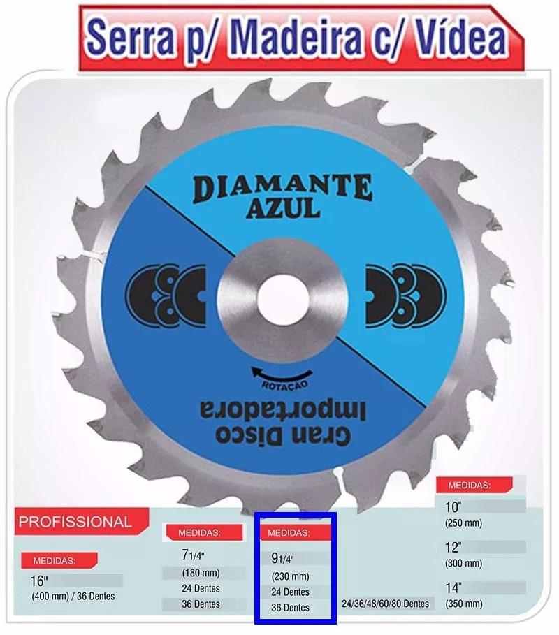 Foto2 - DISCO MAKITA P/MADEIRAQ VIDEA 24 DENTES DIAMANTE AZUL